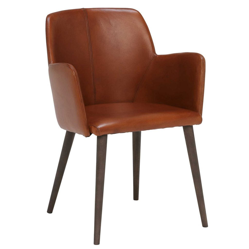 Edgar Leather Dining Chair Brown Chairs Barker Stonehouse
