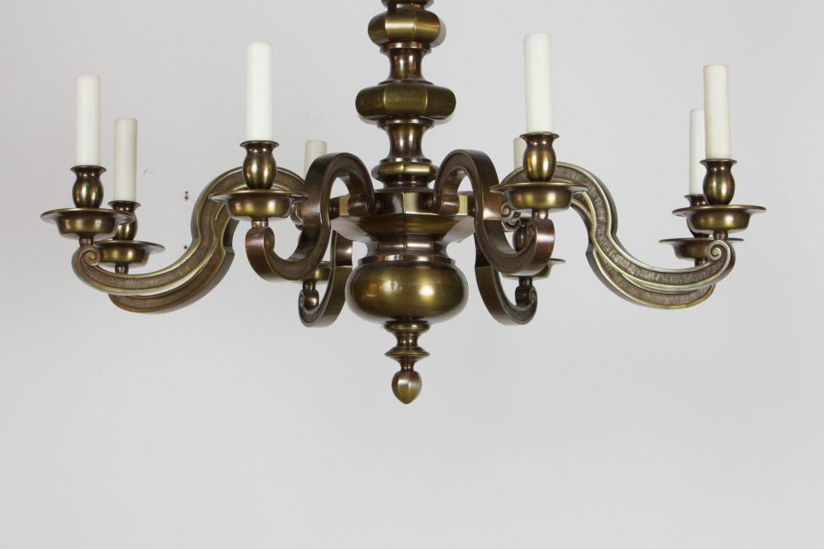 Eight Light Antique Brass Chandelier Appleton Antique Lighting