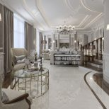 Elegant Living Room In Classic Style 3d Render Stock Photo Picture