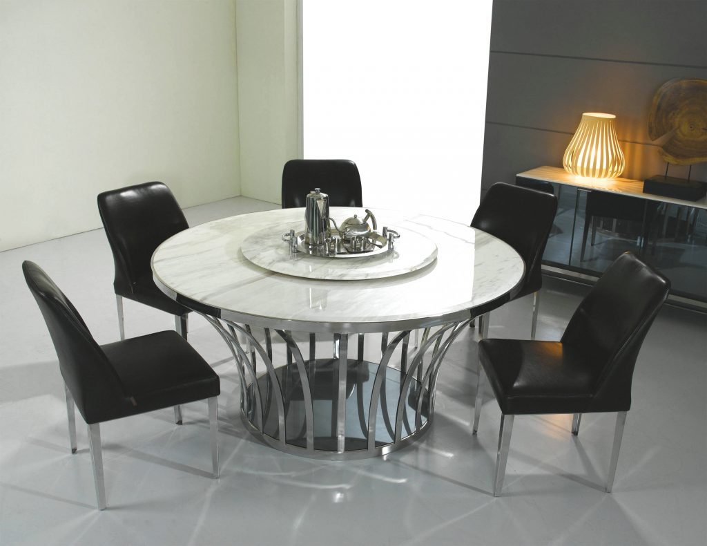 Enchanting Round Marble Top Kitchen Table Including Black Granite
