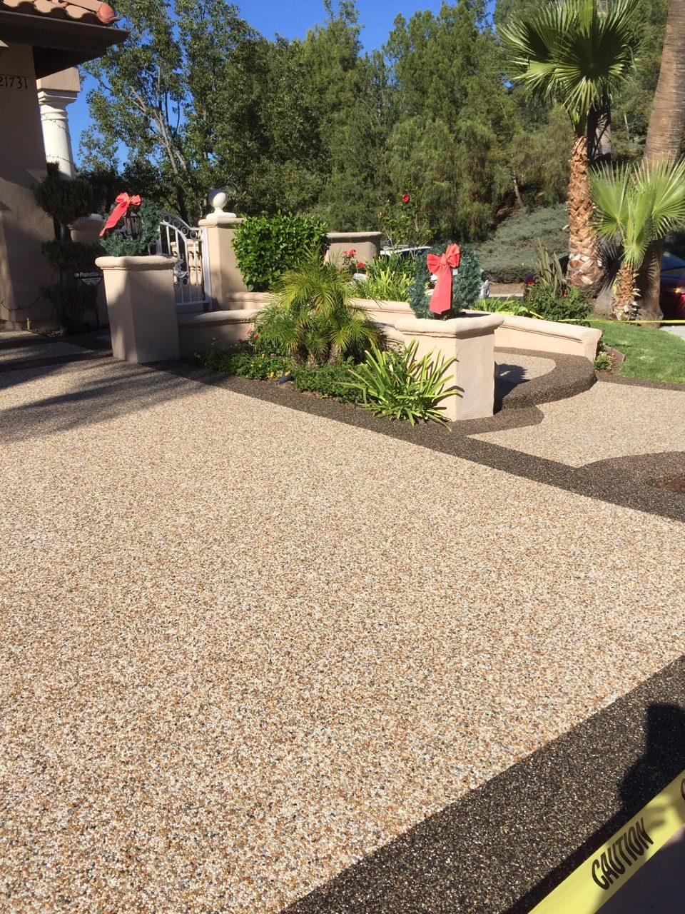 Epoxy Pebble Stone Concrete Resurfacing Orange County Pebble Flooring