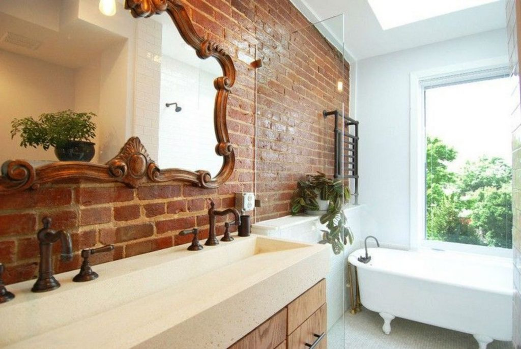 Exposed Brick Bathroom Ideas You Must See Shairoom