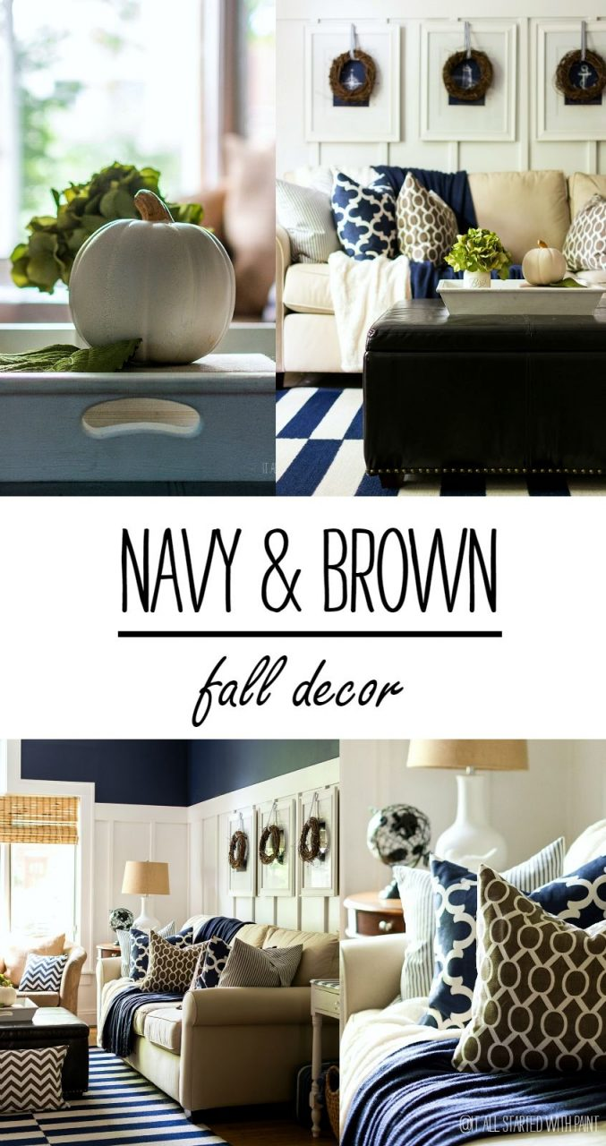 Fall Decor In Navy And Blue Bloggers Best Diy Ideas Home Decor