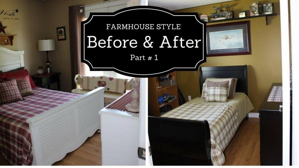 Farmhouse Style Bedroom Makeover 2017 Part1 Youtube