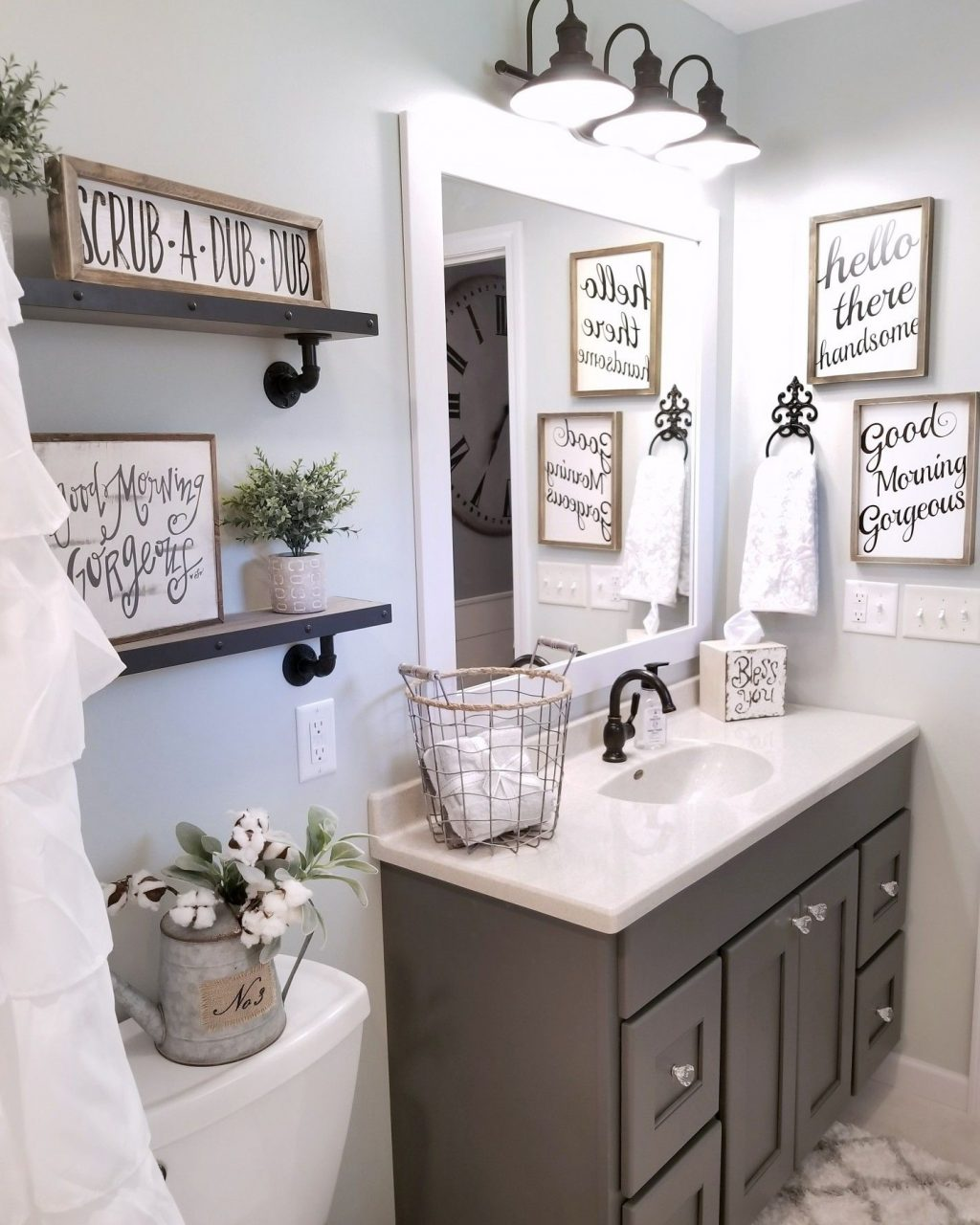 Farmhouse Style Lighting For Your Home In 2019 Bathroom