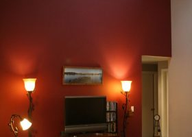 What Color Goes with Burgundy Accent Wall Paint