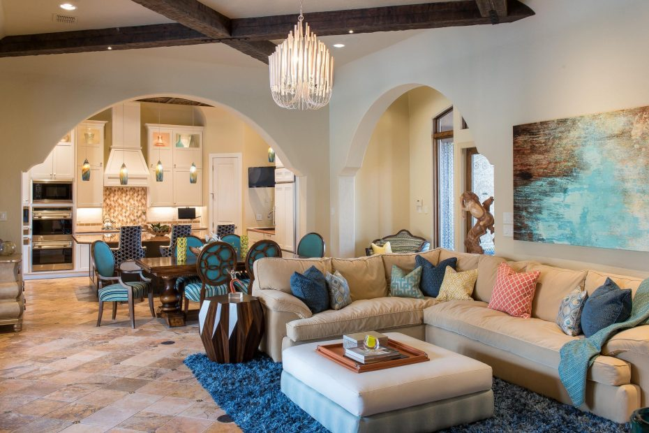 Filled With Bright Magnetic Colors This Moroccan Style Living Room