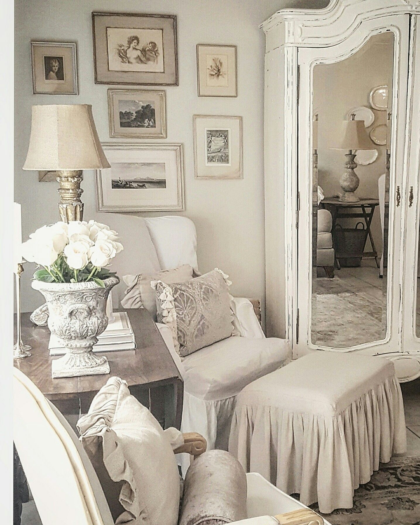 French Farmhouse European Farmhouse White Decor Romantic Homes