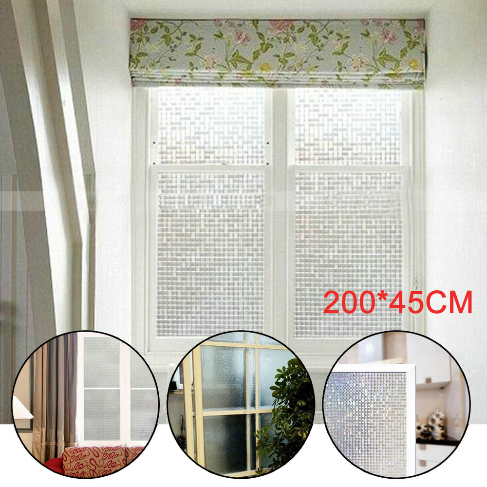 Frosted 3d Flower Privacy Glass Window Film Sticker Bathroom Office