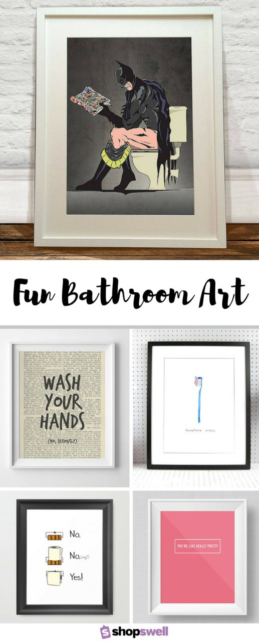 Fun Bathroom Art For The Home Bathroom Wall Art Bathroom Art