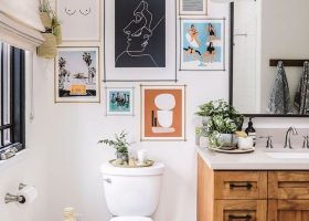 Bathroom Wall Art Idea
