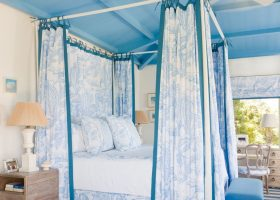 Blue Bedroom with Canopy Bed