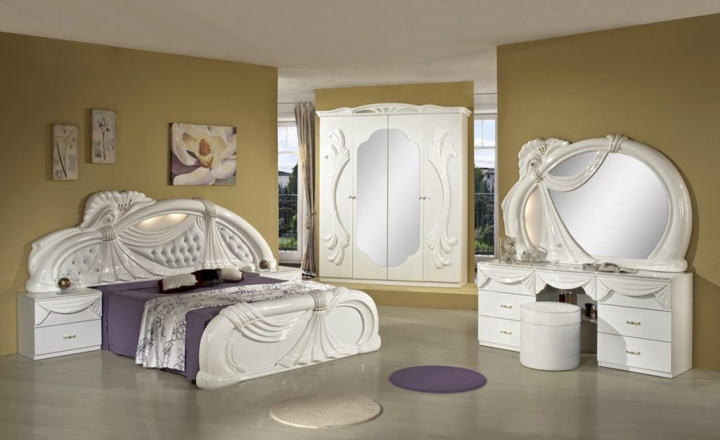 Gina White Italian Classic Bedroom Set Made In Italy Awesome