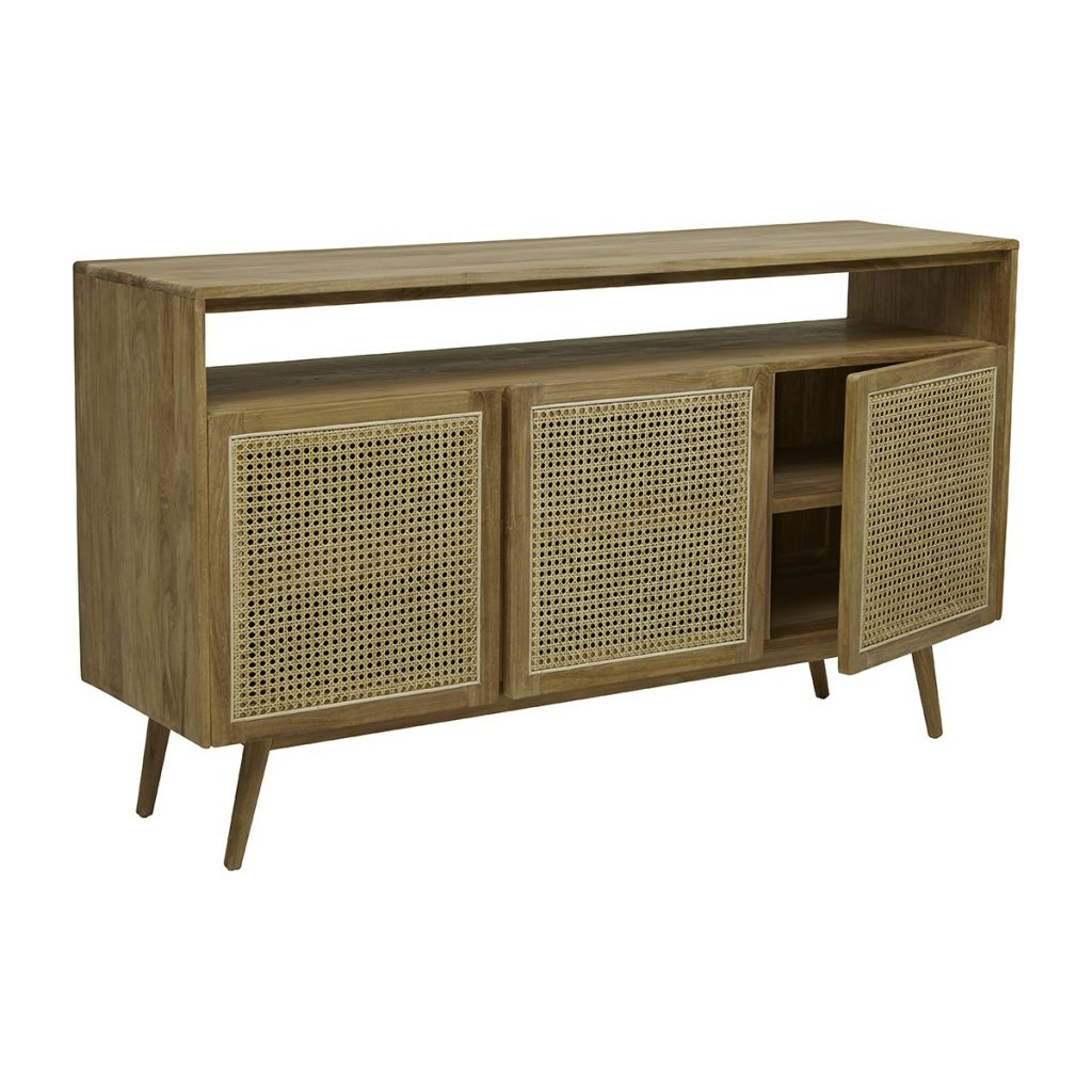 Globe West Anja Woven Open Buffet Teak Modern Furniture Buy