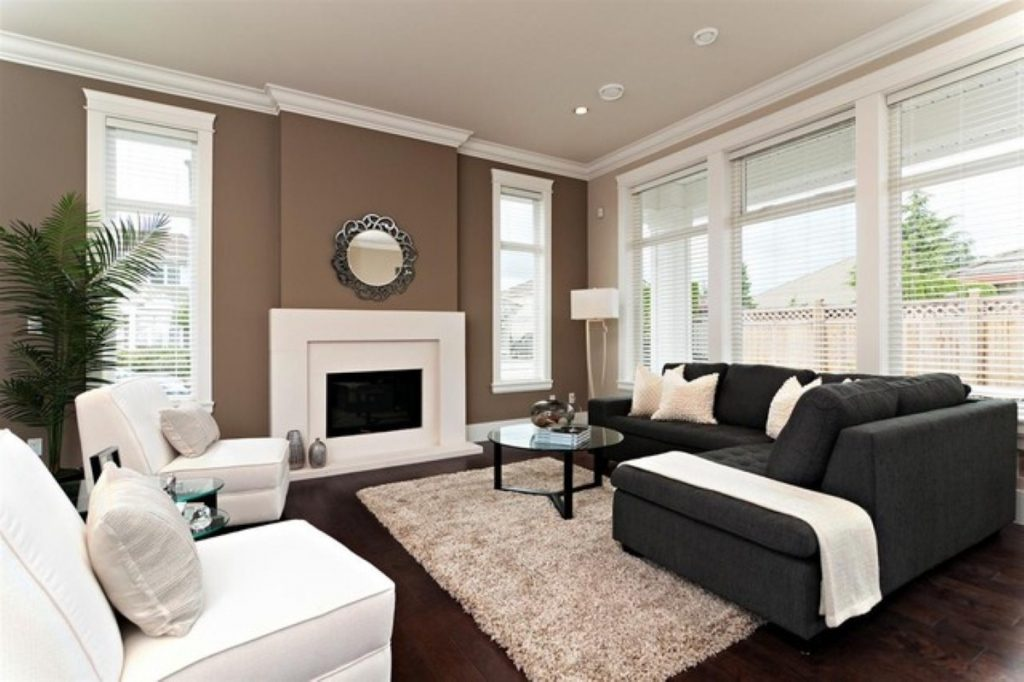Good Accent Wall Colors For Small Living Room With Fireplace And