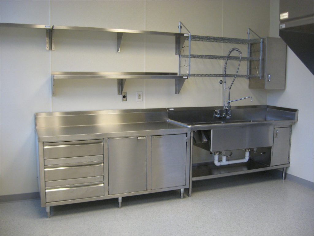 Great Stainless Shelves Industrial Kitchen In 2018 Shelves With
