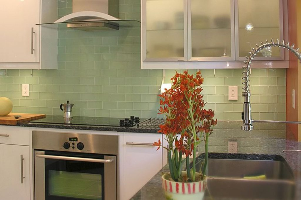 Green Glass Tile Kitchen Backsplash In Subway Designs Dennisbilt