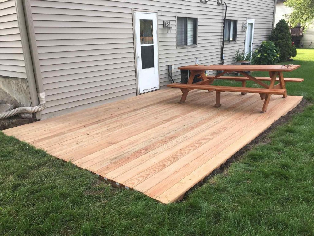 Ground Level Wood Deck Ideas Archdsgn Plans And Floating Home