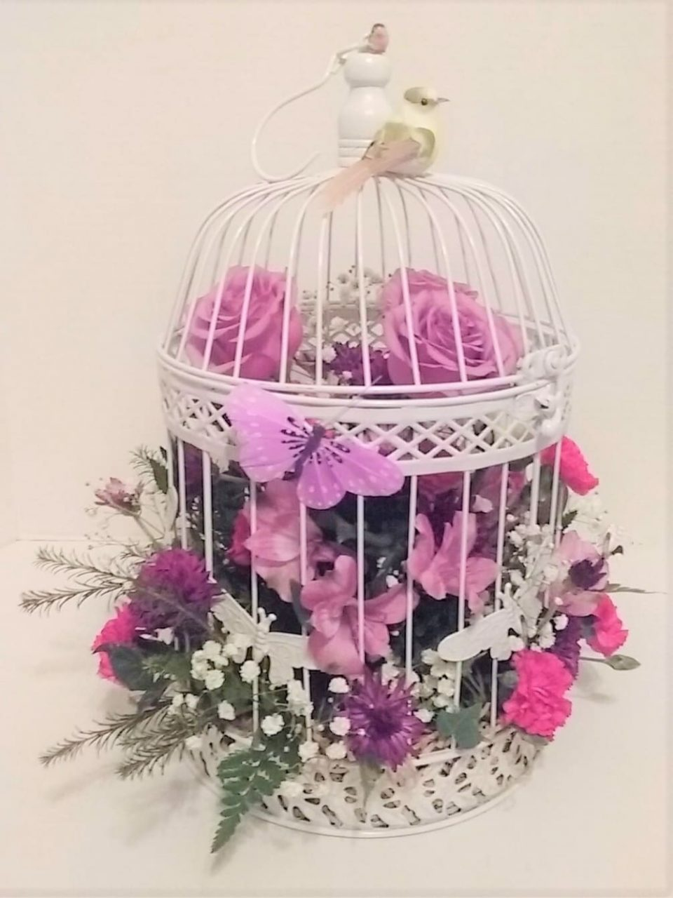 Hanging Bird Cage Bouquet Kennesaw Mountain Flowers