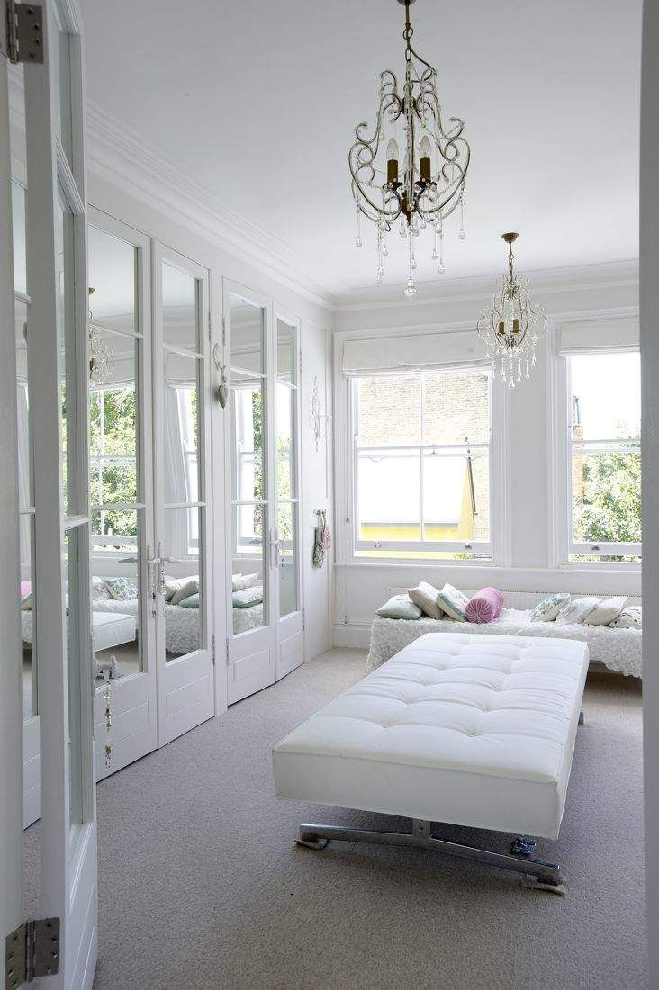 Heavenly White Dressing Room Chandeliers Mirrors Full Links And