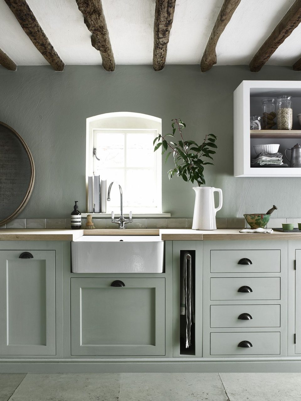 Henley Kitchen Hand Painted In Sage Our Home In 2019 Green