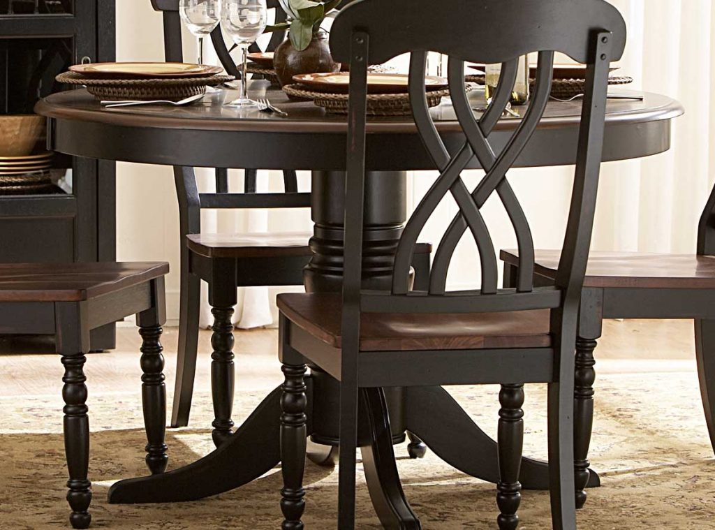 Homelegance Ohana 48in Round Dining Table Black 1393bk 48