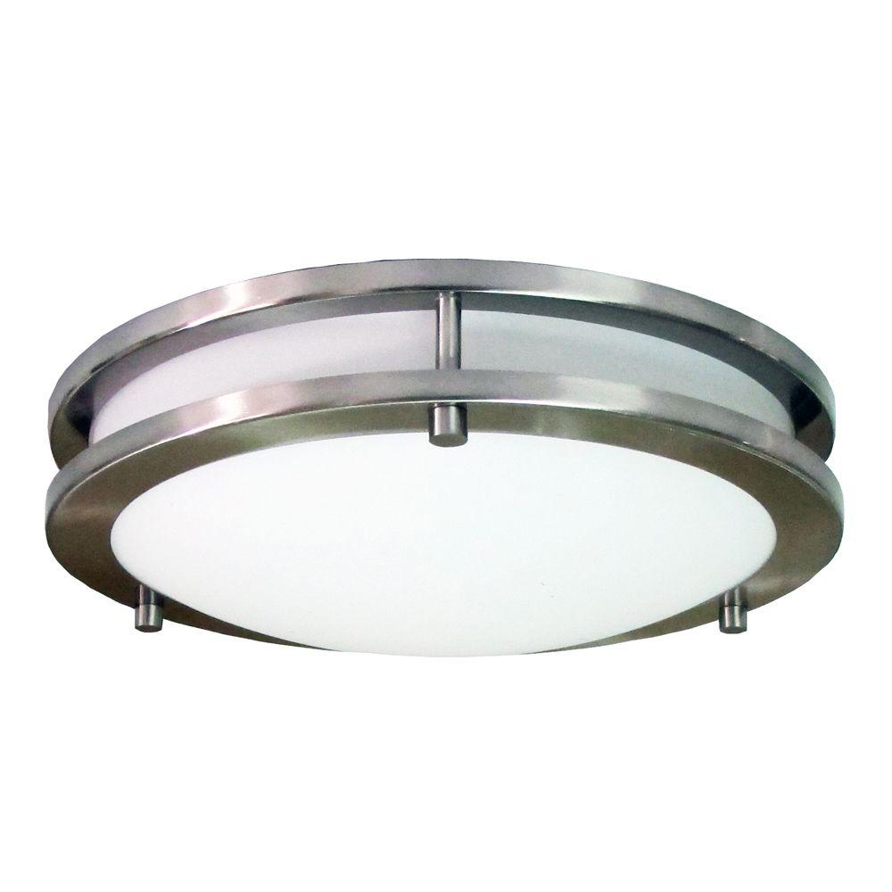Homeselects Saturn 3 Light Brushed Nickel Flush Mount 6106 The