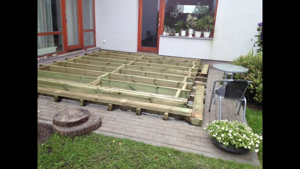 How To Build A Ground Level Deck Frame Part 1 Youtube