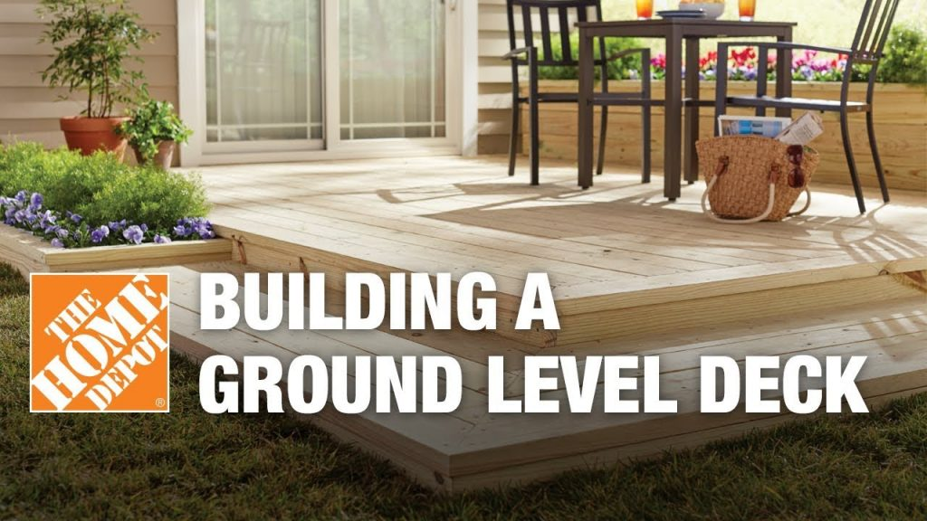 How To Build A Ground Level Deck The Home Depot Youtube