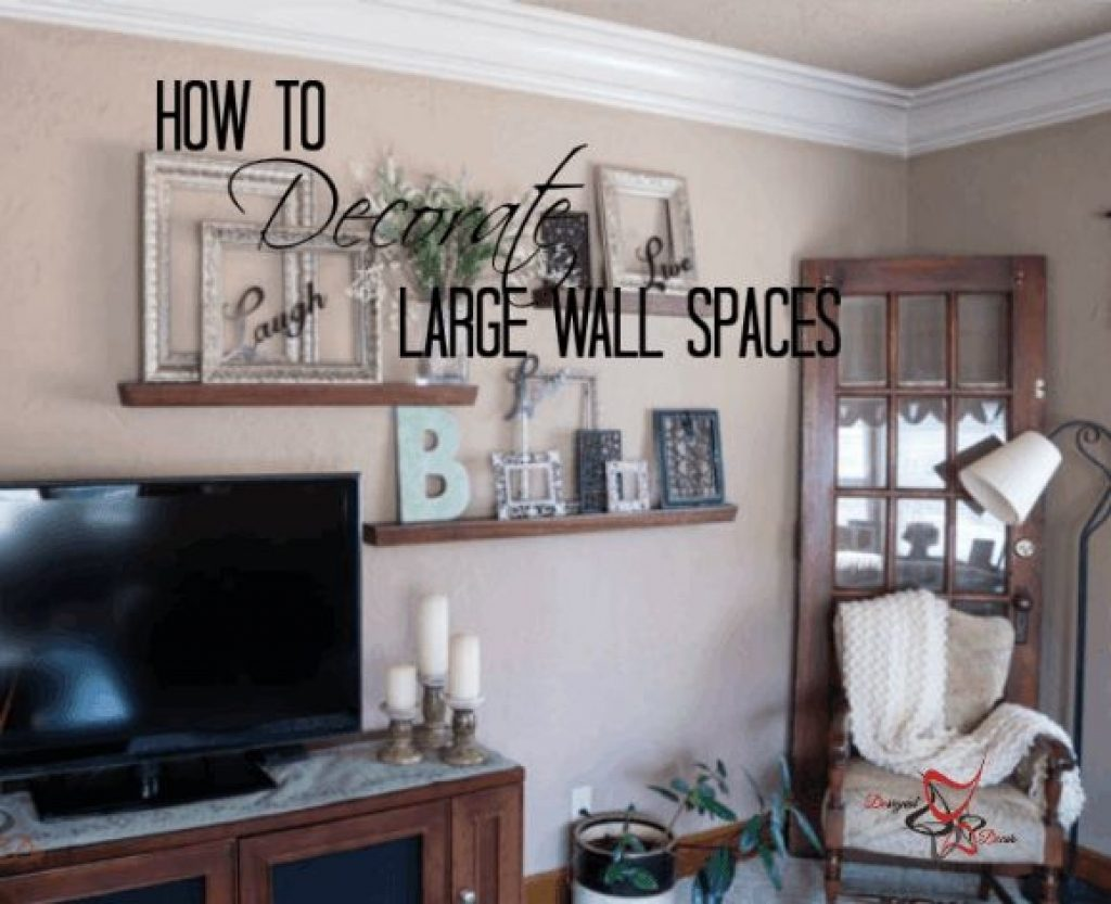 How To Decorate Wall A Large Living Room Home Inexpensively Walls