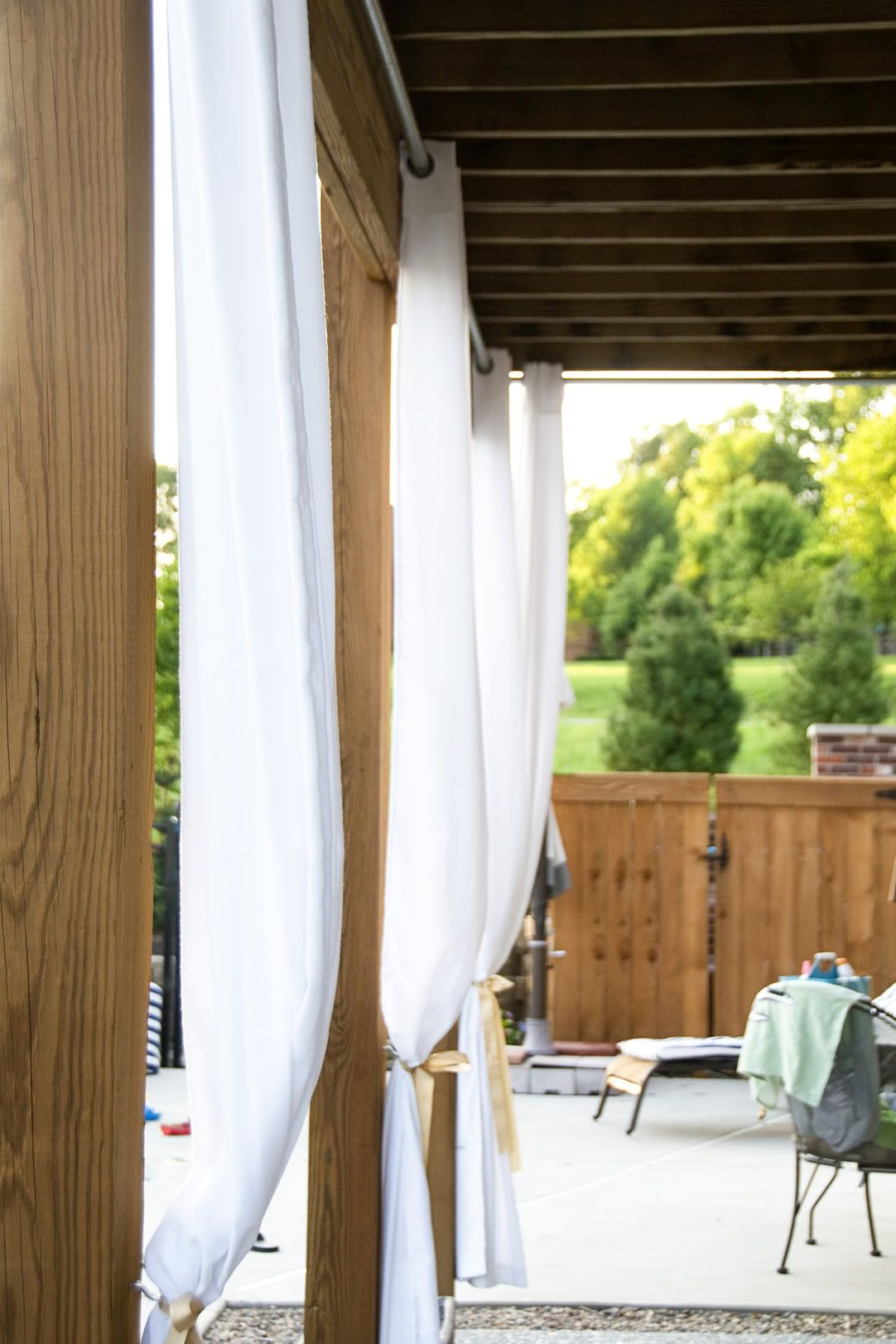 how to hang outdoor curtains diy