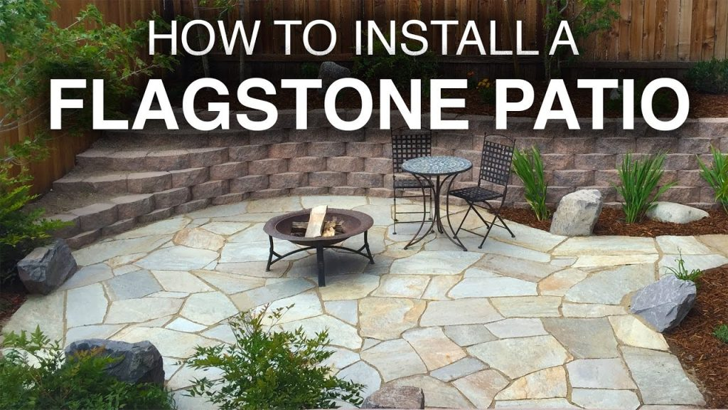 How To Install A Flagstone Patio Step Step Youtube