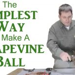 How To Make A Grapevine Ball Youtube