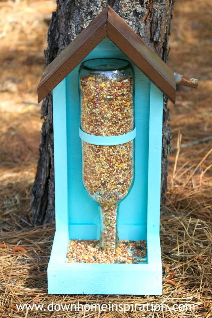 How To Make A Wine Bottle Bird Feeder Outdoor Decorating Bottle