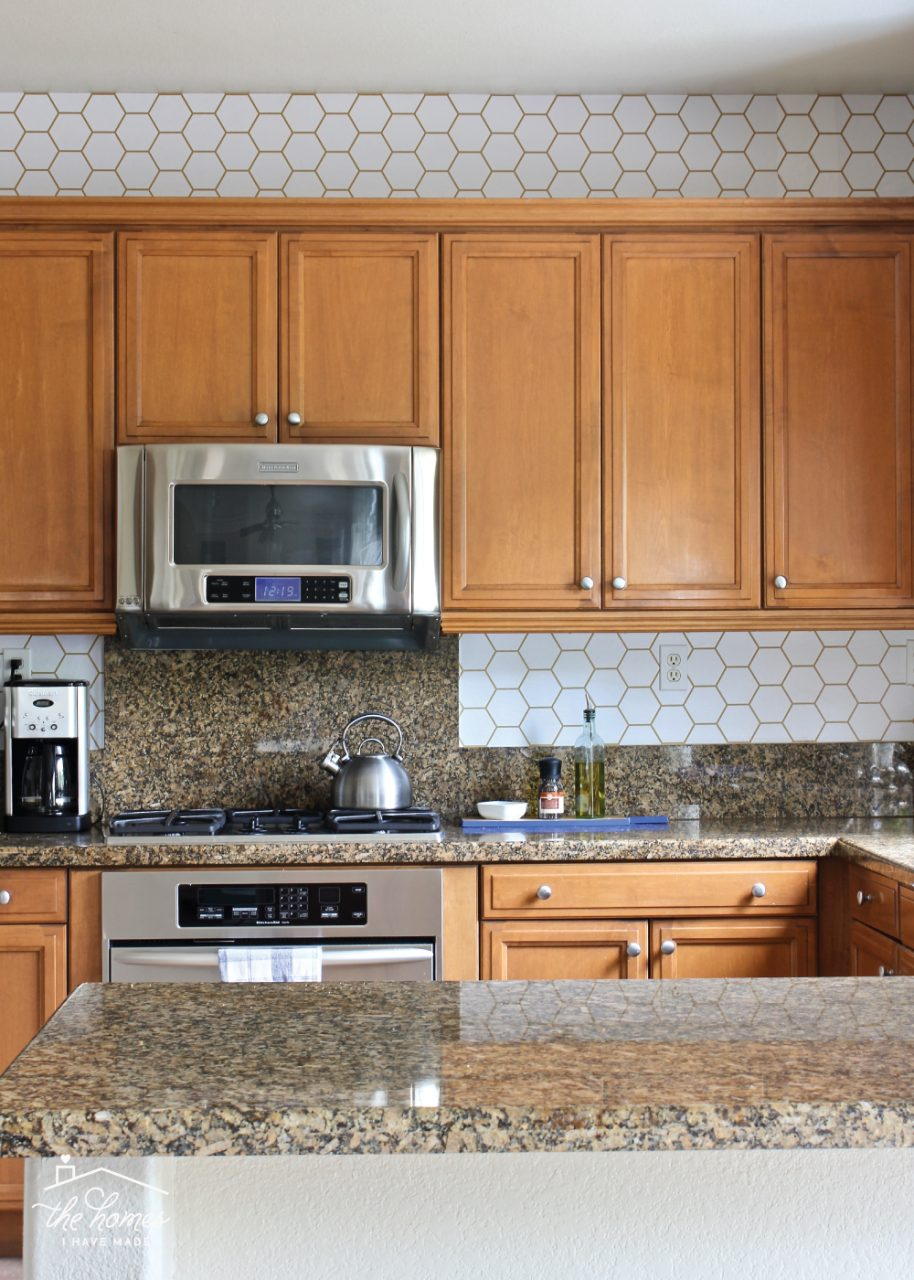 How To Wallpaper A Backsplash The Homes I Have Made