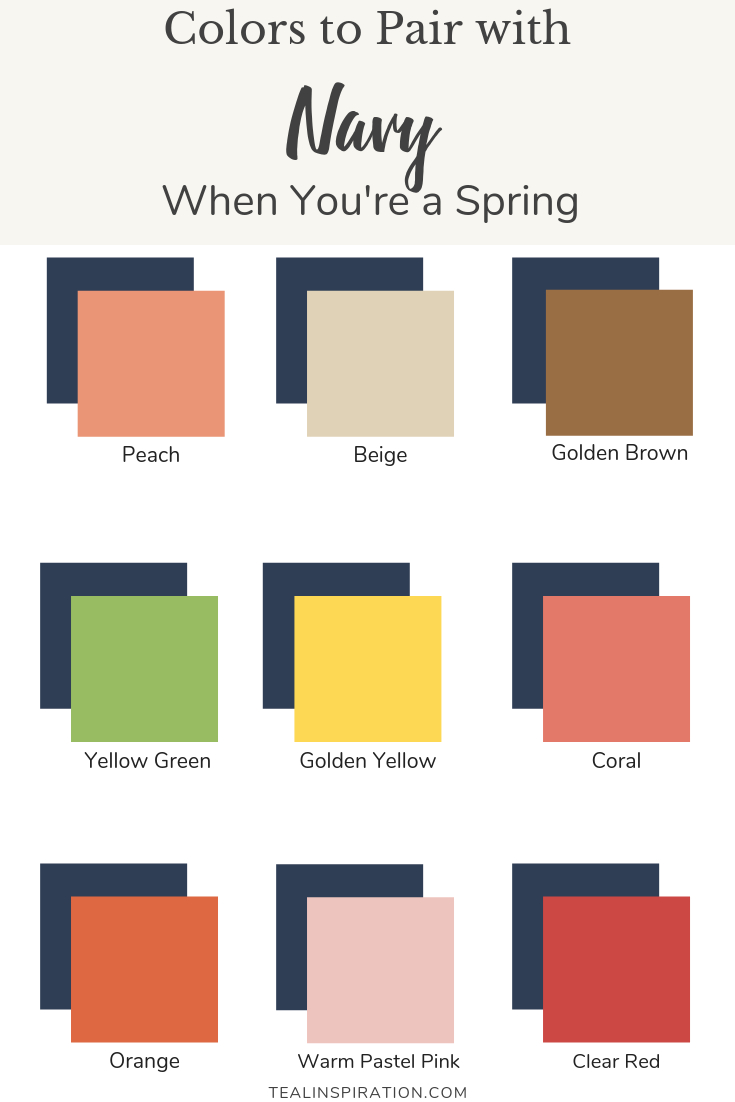 How To Wear Navy Teal Inspiration Blog Spring Color Palette