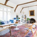 How We Refinished Our Wood Beams Emily Henderson