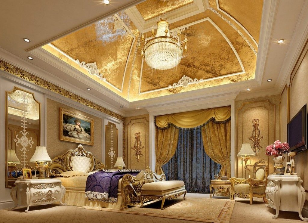 Huge Luxury Master Bedroom Vaulted Ceilings Crown Molding Bedroom