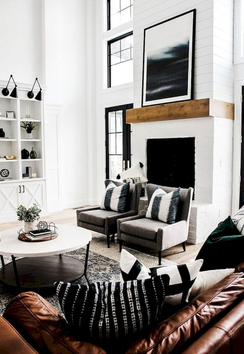 Image Result For Black And White Farmhouse Living Room Living Room
