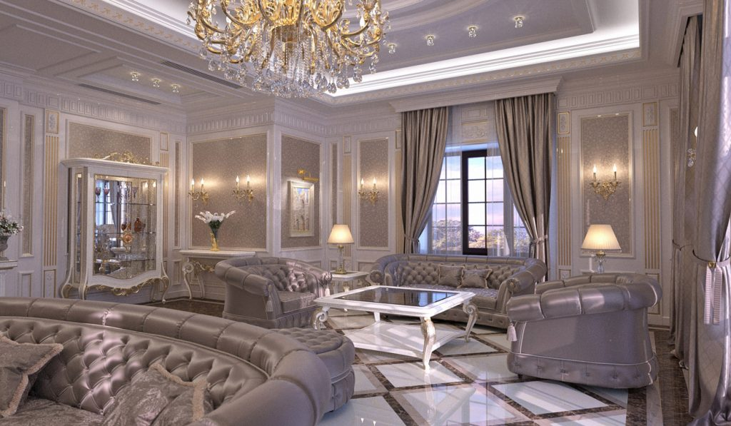 Indesignclub Living Room Interior Design In Elegant Classic Style