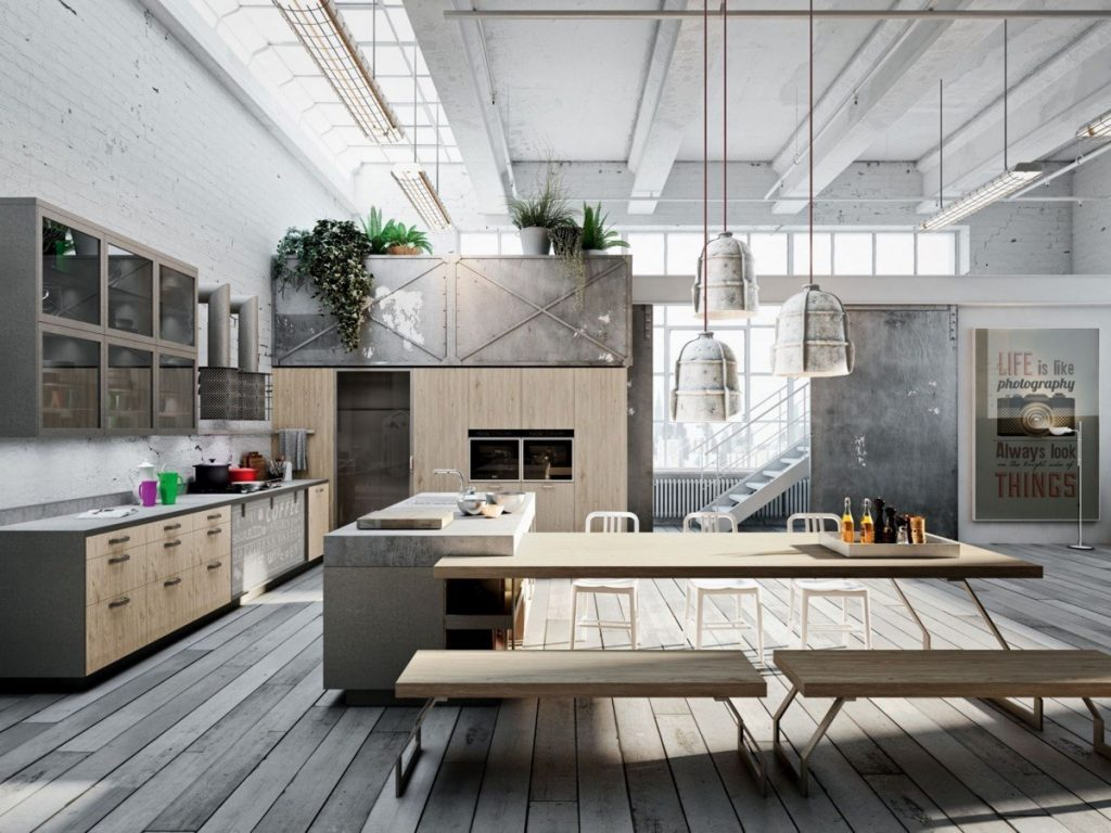 Industrial Kitchen Designs Applied With Fashionable Decor Urban