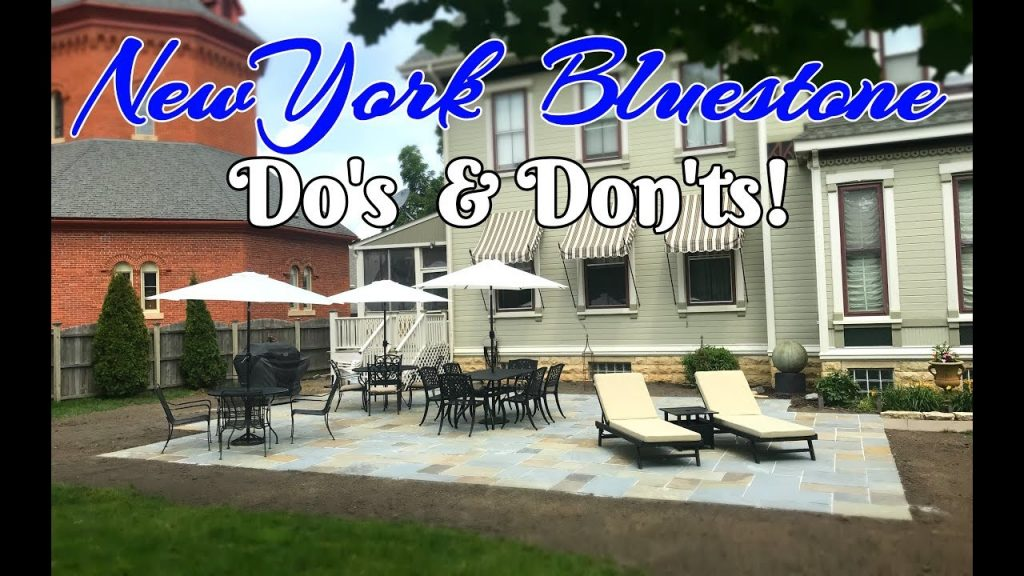 Installing A New York Bluestone Patio Youtube