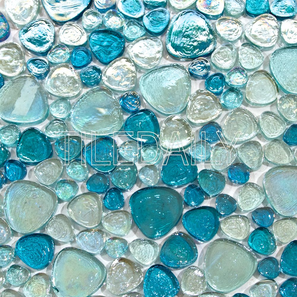 Iridescent Pebble Glass Mosaic 3 Colors Sale Tiledaily Glass Mosaic