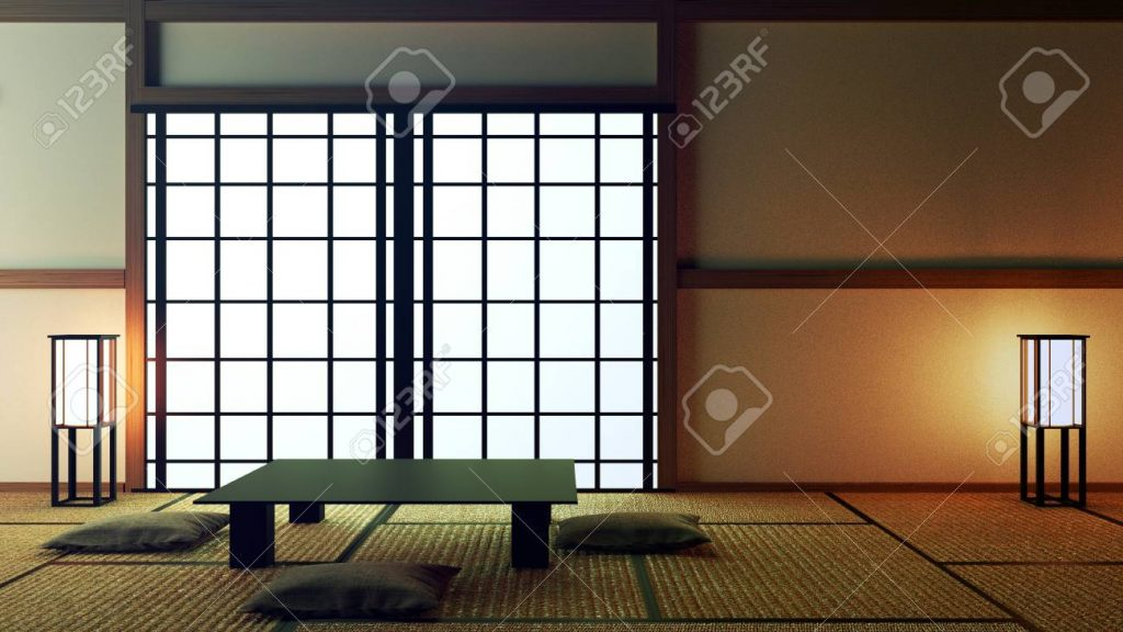 Japanese Interior Designmodern Living Room With Table And