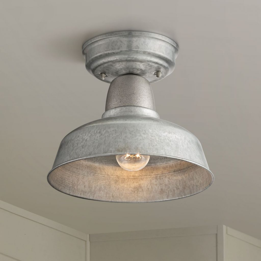John Timberland Rustic Outdoor Ceiling Light Fixture Semi Flush