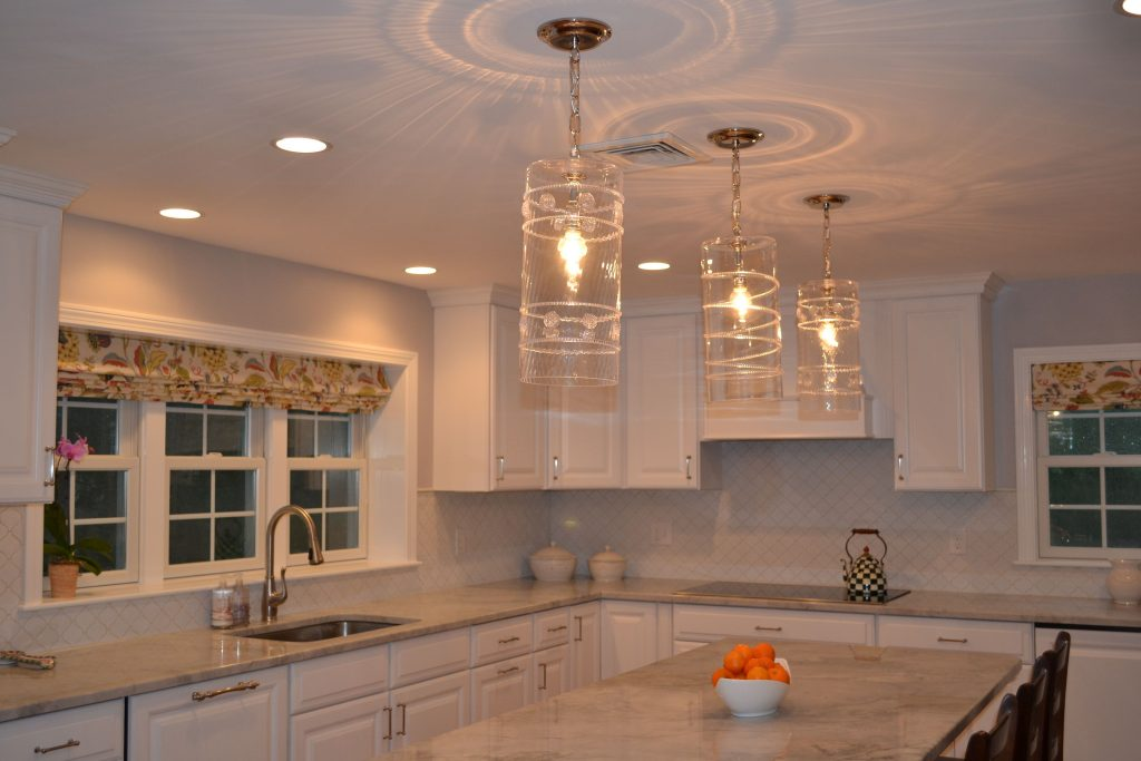 Juliska Pendant Lights Over Island Willow Cir Kitchen Reno