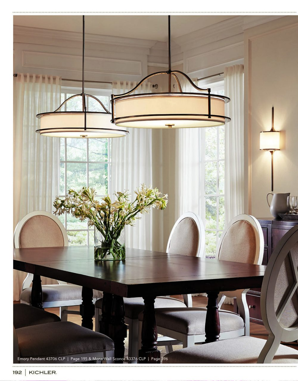 Kichler K116 Source Book Sutton Home Dining Room Light Fixtures