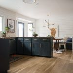 Shiplap Kitchens with Dark Cabinets
