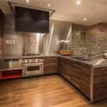 Kitchen Wood Stainless Steel Converted Townhouse In New York