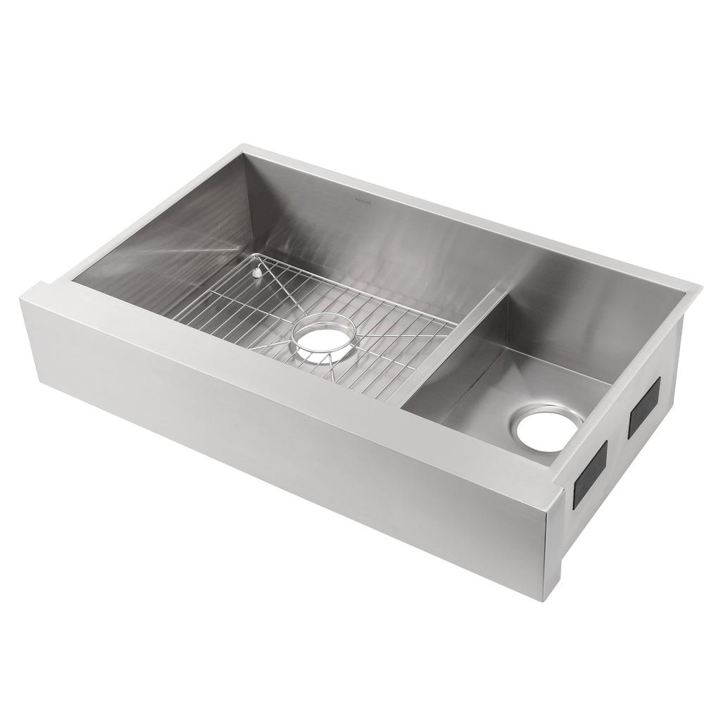 Kohler Vault Smart Divide Undermount Stainless Steel 36 In Double